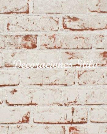 Papel pintado la que se avecina SALON AMIGO JAVI Ladrillo Blanco