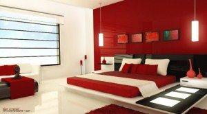 habitacion-pintada-de-rojo-lacado