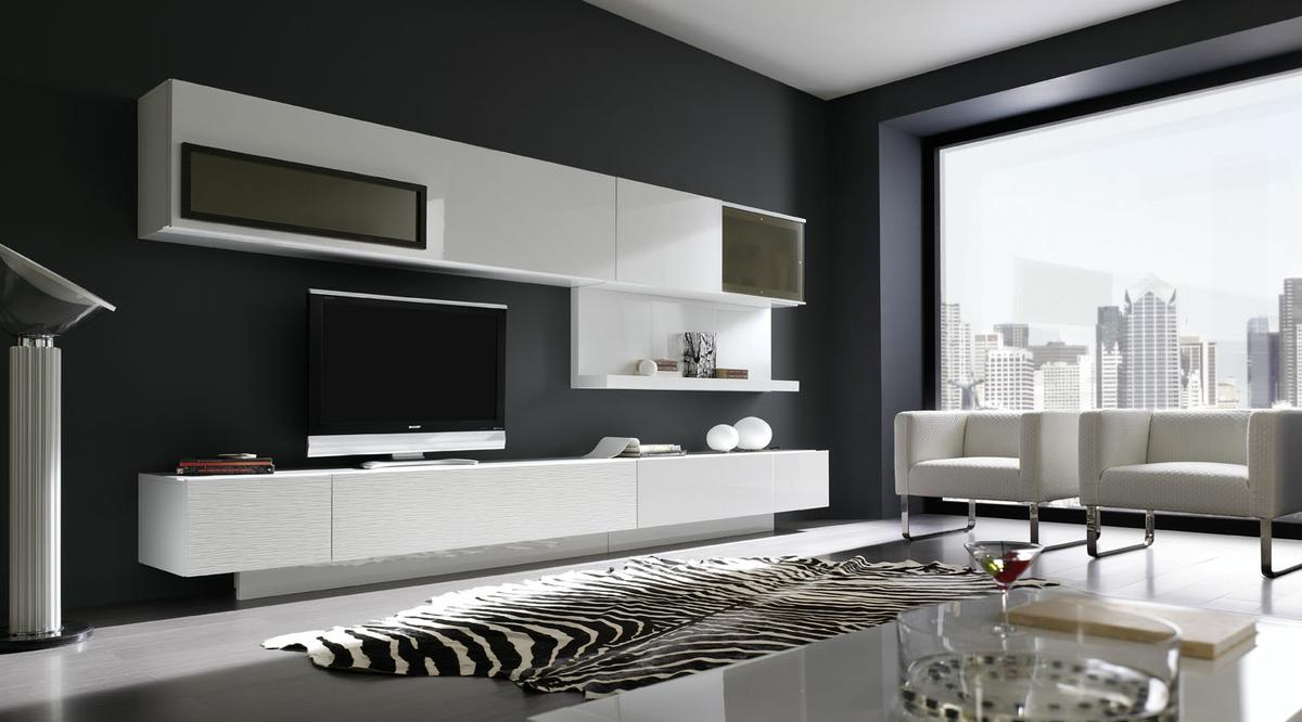 Pintura plastica blanca negra decoraciones stilo - Habitacion gris y blanca ...