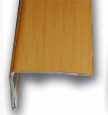 Cantonera Mamperlan peldaño aluminio Imitación madera cerezo claro 40 ADHESIVA 3 m