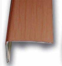 Cantonera Mamperlan peldaño aluminio Imitación madera cerezo 40 ADHESIVA 3 m