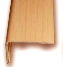Cantonera Mamperlan peldaño aluminio Imitación madera haya vaporizada 40 ADHESIVA 3 m