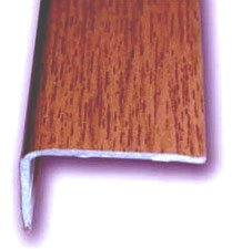 Cantonera Mamperlan peldaño aluminio Imitación madera jatoba 40 ADHESIVA 3 m