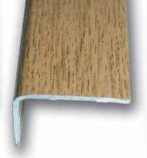 Cantonera Mamperlan peldaño aluminio Imitación madera roble rústico 40 ADHESIVA 3 m