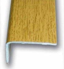Cantonera Mamperlan peldaño aluminio Imitación madera Roble 40 ADHESIVA 3 m