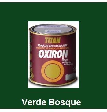 Esmalte Antioxidante OXIRON LISO Verde Bosque 750 ml Brillante