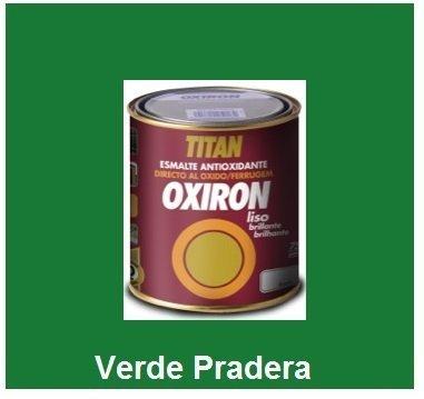 Esmalte Antioxidante OXIRON LISO Verde Pradera 750 ml Brillante