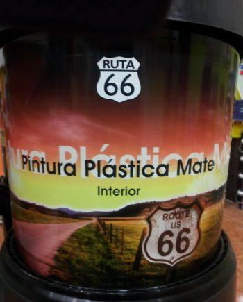 """Pintura Plástica Blanca """"Ruta 66"""" 4 L Mate"""