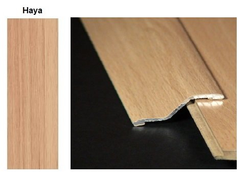Pletina PVC con escalón imitación madera Haya 0