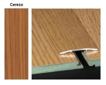 Pletina PVC plana imitación a madera Cerezo 0