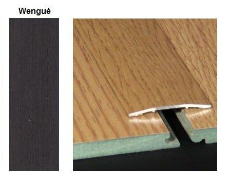 Pletina PVC plana imitación a madera Wengué 0