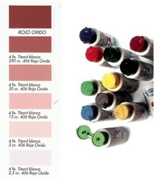 Tinte al Agua Rojo Óxido  250 ml