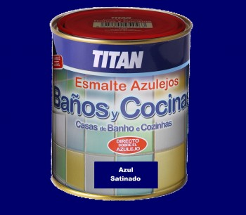 Esmalte Azulejos Titan 750 ml  Azul Satinado