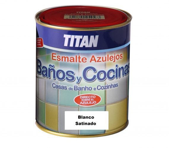 Esmalte azulejos titan 750 ml blanco satinado - Esmalte para baneras ...