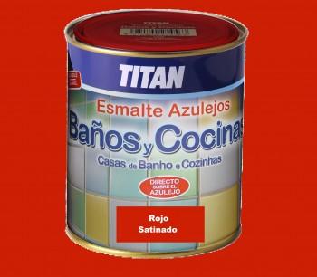 Esmalte Azulejos Titan 750 ml  Rojo Satinado
