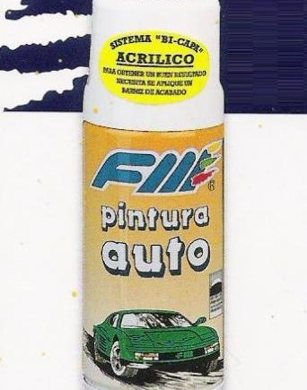 Spray Pintura especial COCHES