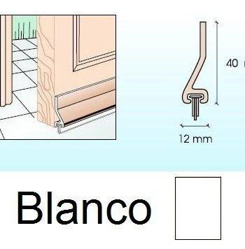 Burlete para puertas Blanco