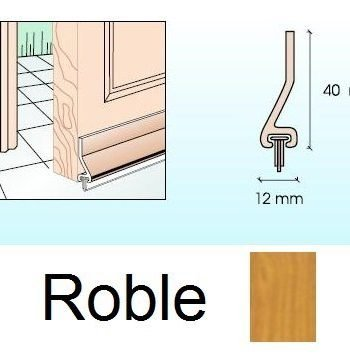 Burlete para puertas Roble