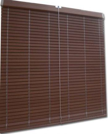 Persiana Cadenilla PVC Marrón Madera - Medida: 1