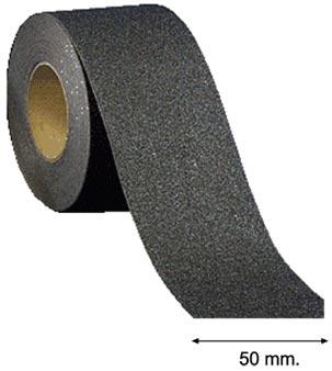 Cinta antideslizante negra adhesiva 50 mm