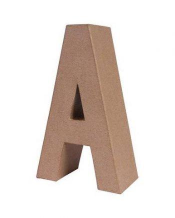 A letra papel mache grande