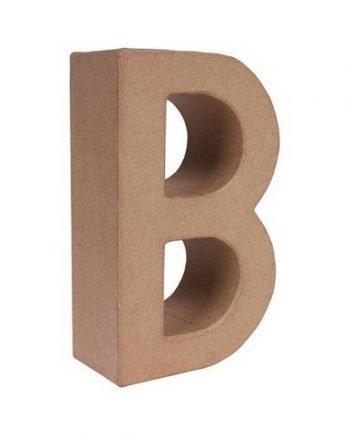 B letra papel mache grande