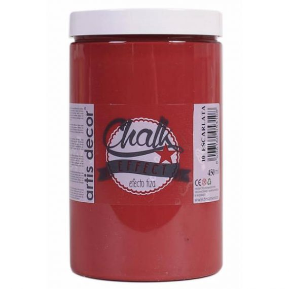 Pintura Tiza 450 ml Escarlata