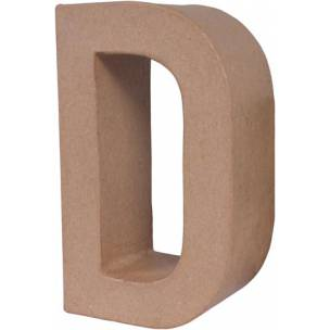 D letra papel mache grande