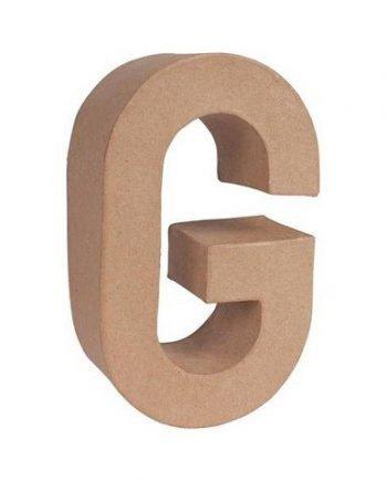 G letra papel mache grande