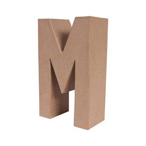 M letra papel mache grande