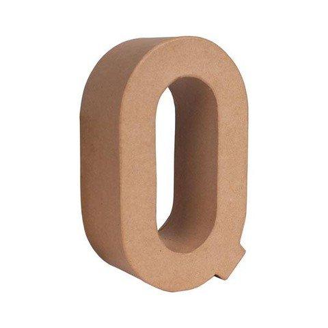 Q letra papel mache grande