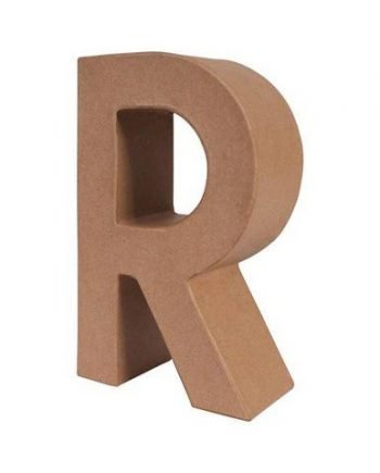 R letra papel mache grande