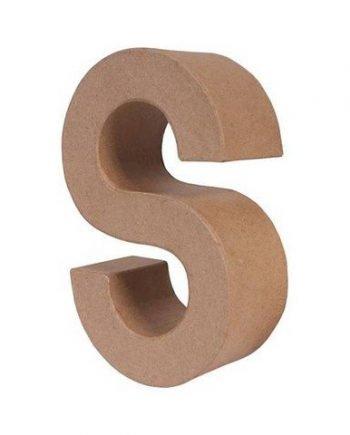 S letra papel mache grande
