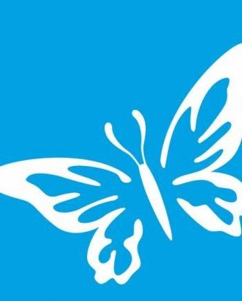 plantilla estarcir mariposa-stencil-10x10cm