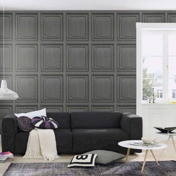 Papel pintado madera gris oscuro cuarter n decoraciones - Papel pintado por metros ...