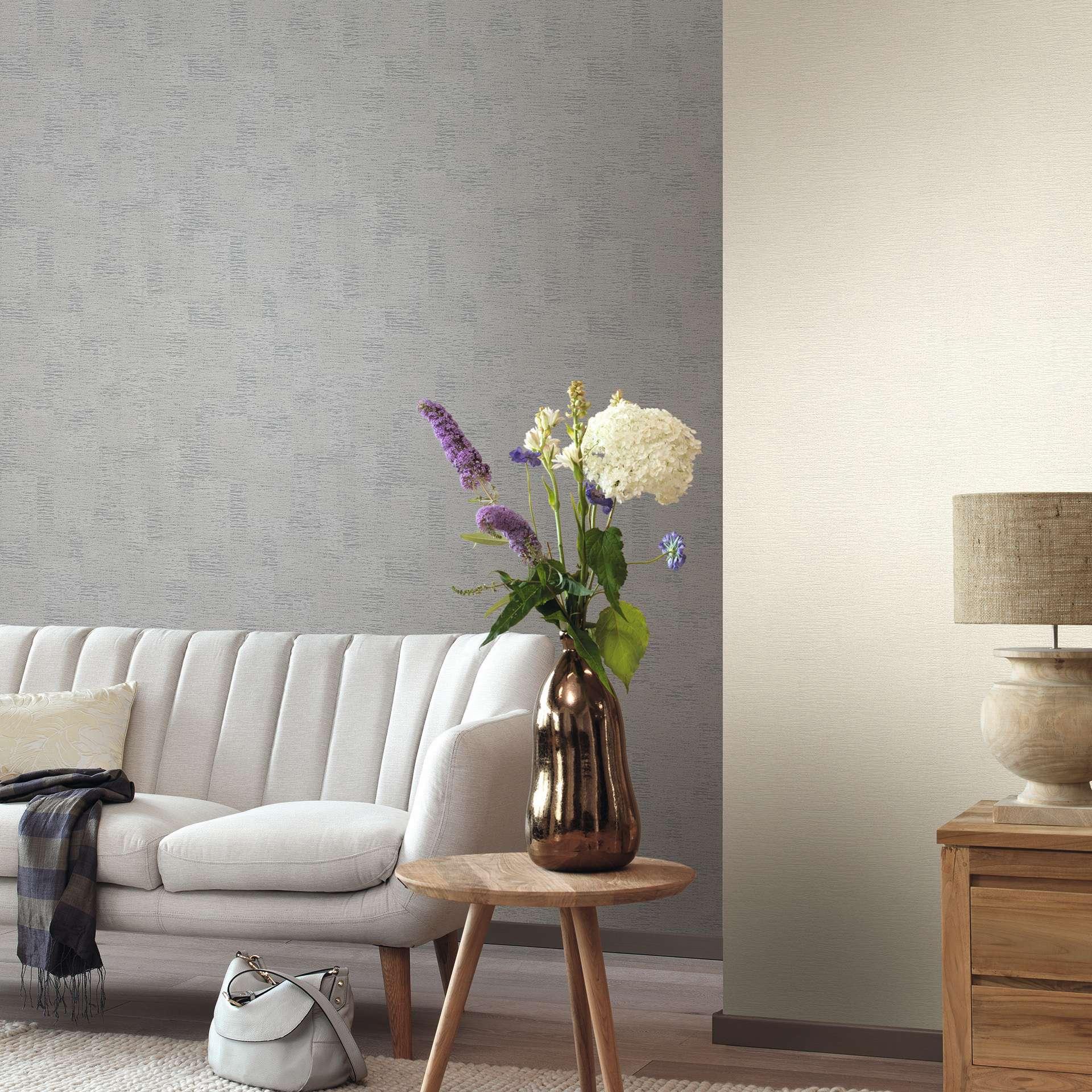 Papel pintado gris perla decoraciones stilo - Papel pintado gris ...