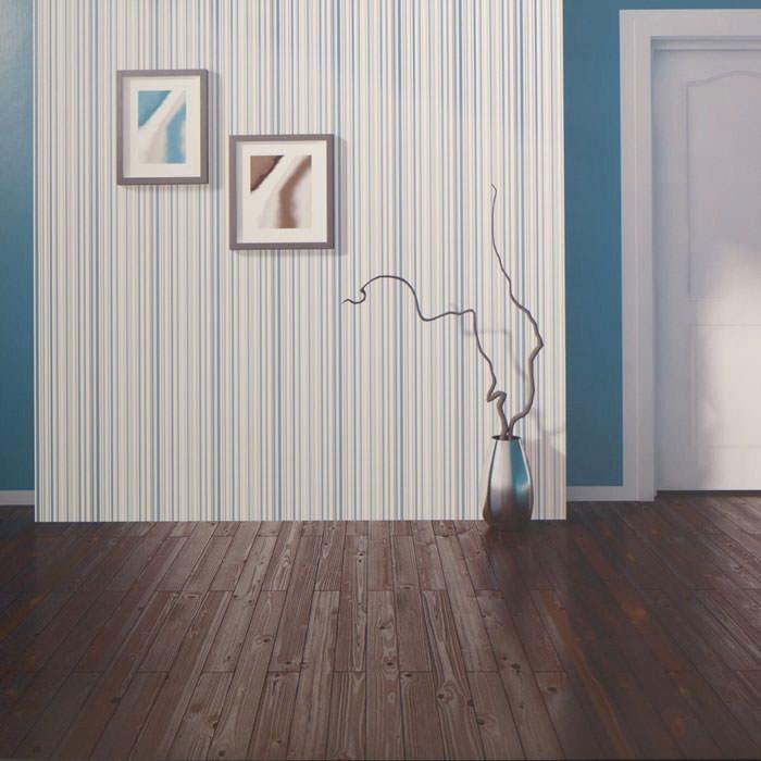 Papel pintado rayas finas azul gris y blanco for Papel pintado oferta