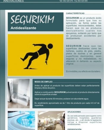 Antideslizante Suelos SEGURIKIM PLUS