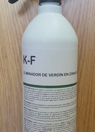 Eliminador de moho y verdín de paredes K-F