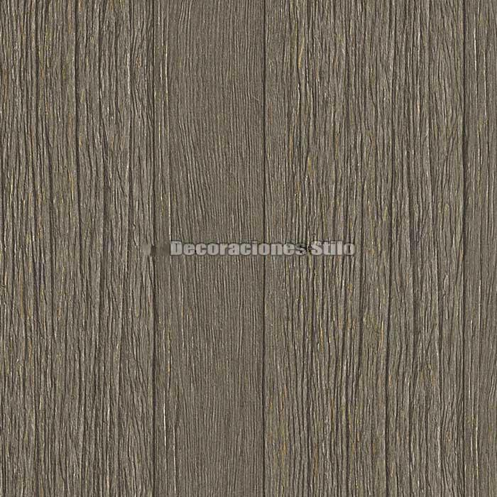 Papel pintado listones madera marr n oscuro decoraciones for Papel pintado marron oscuro