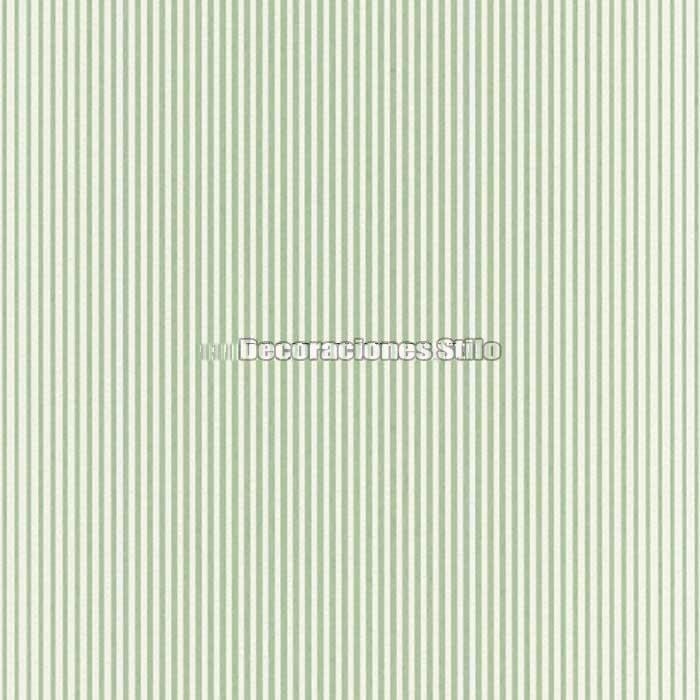 Papel pintado rayas blanco verde decoraciones stilo - Papel a rayas para paredes ...
