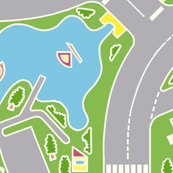 5331091 - Sintasol - Suelo Vinílico Carreteras Infantil - Ancho 2 m.