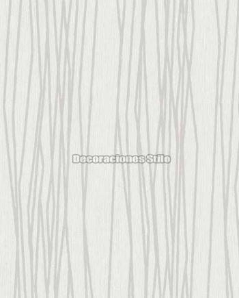 DU504C120 - Papel Pintado Vinílico Blanco y Hueso de Rayado