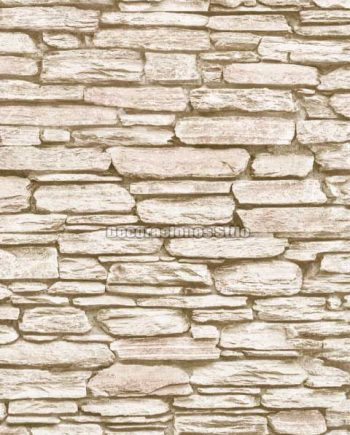 DU672C130 - Papel Pintado Vinílico Beige de Piedra