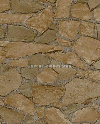 DU672C240 - Papel Pintado Vinílico Beige de Piedra