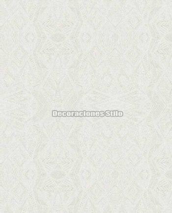 DU672C810 - Papel Pintado Vinílico Blanco de Geométrico