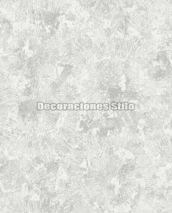 ED652C0 - Papel Pintado Vinílico Gris y Blanco de Flores difuminadas