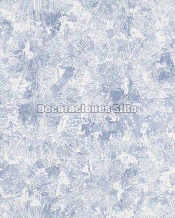 ED653C0 - Papel Pintado Vinílico Azul y Blanco de Flores difuminadas