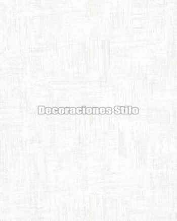 ED807C0 - Papel Pintado Vinílico Blanco y Brillo de Contrapeado
