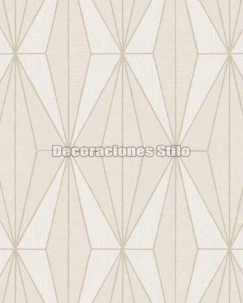 ED817C0 - Papel Pintado Vinílico Beige de Geométrico